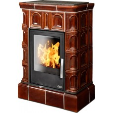 Керамическая печь BRITANIA KI, с кафельным цоколем, с допуском воздуха, коричневый