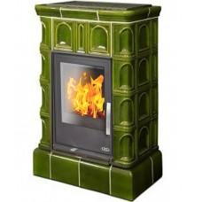 Керамическая печь BRITANIA KI, с кафельным цоколем, с допуском воздуха, светло-зеленый