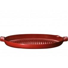 Барбекю-гриль для рыбы 50x28 см (красный) Emile Henry