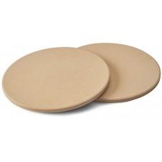 Набор из двух круглых камней для приготовления пиццы