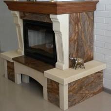 Provance мраморный с деревянной балкой
