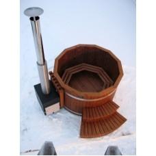 Купель из термодерева с выносной печью Kirami TW 1900 CUBE