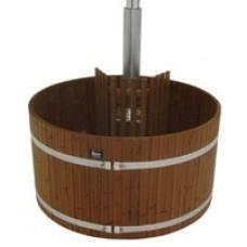 Купель из термодерева с встроенной печью Kirami TW 2600 SIDE