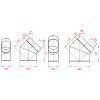 Craft отвод вертикальный 45°