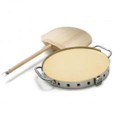 Набор для приготовления пиццы (лопатка, камень на подставке с термометром)!