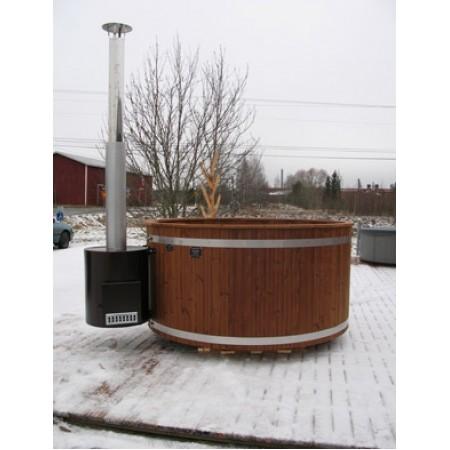 Купель из термодерева с выносной печью Kirami TW 2600 TUBE