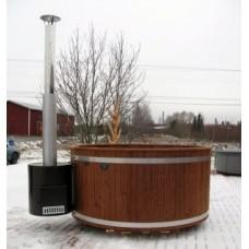 Купель из термодерева с выносной печью Kirami TW 3200 TUBE